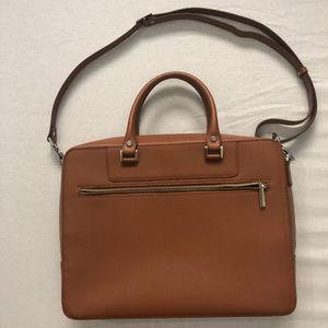 Barneys New York Saffiano Double-Handled Briefcase